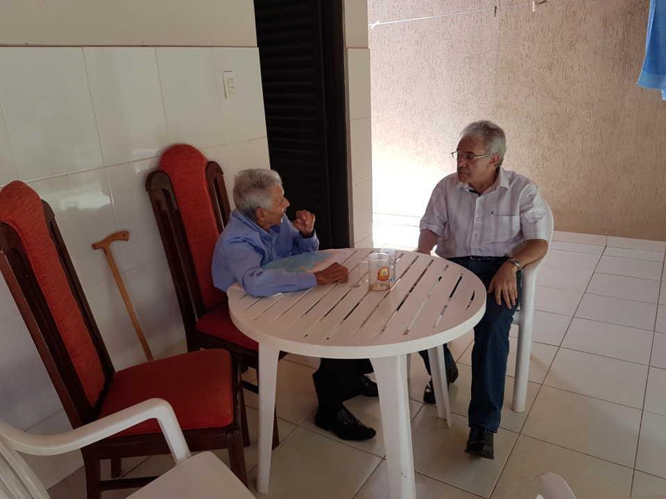Com meu pai na casa de Sônia e Valdemar: 18.01.2019