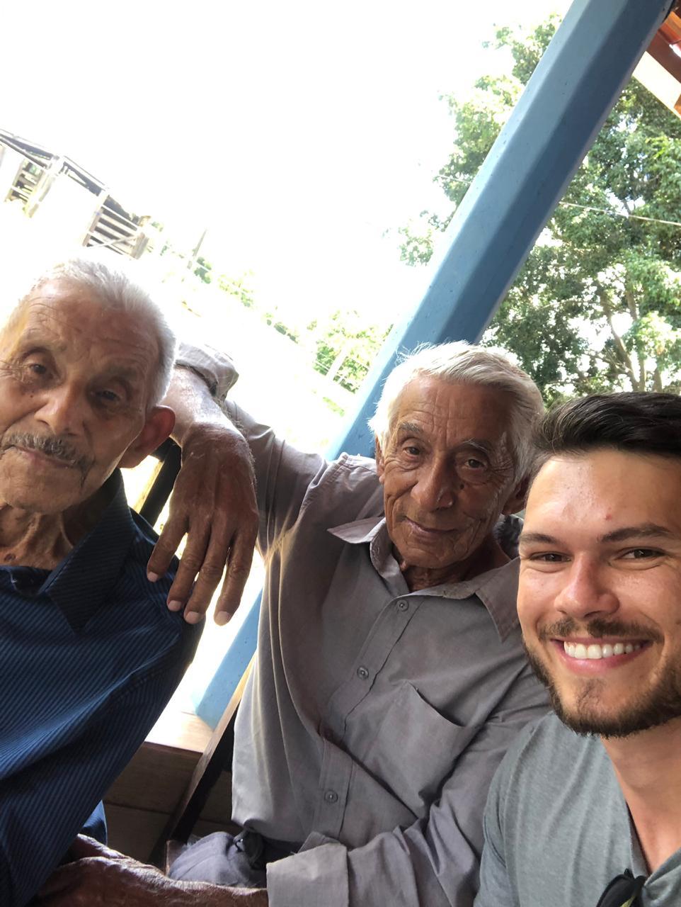 Papai, tio Tonico e Thiago Henrique: 19.01.2019