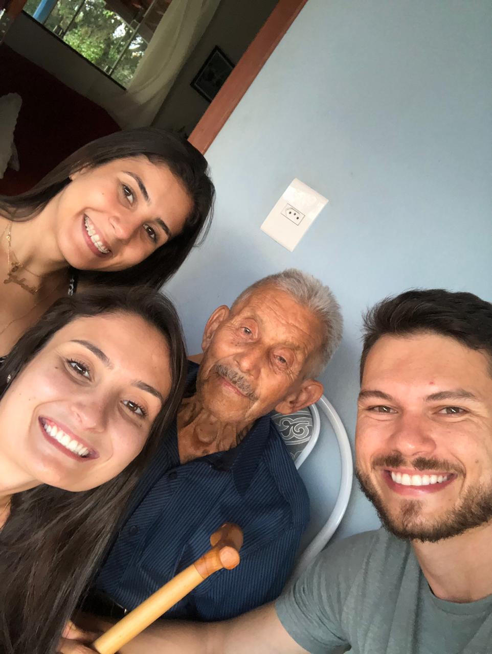 José Nicolau com netos em 19.01.2019