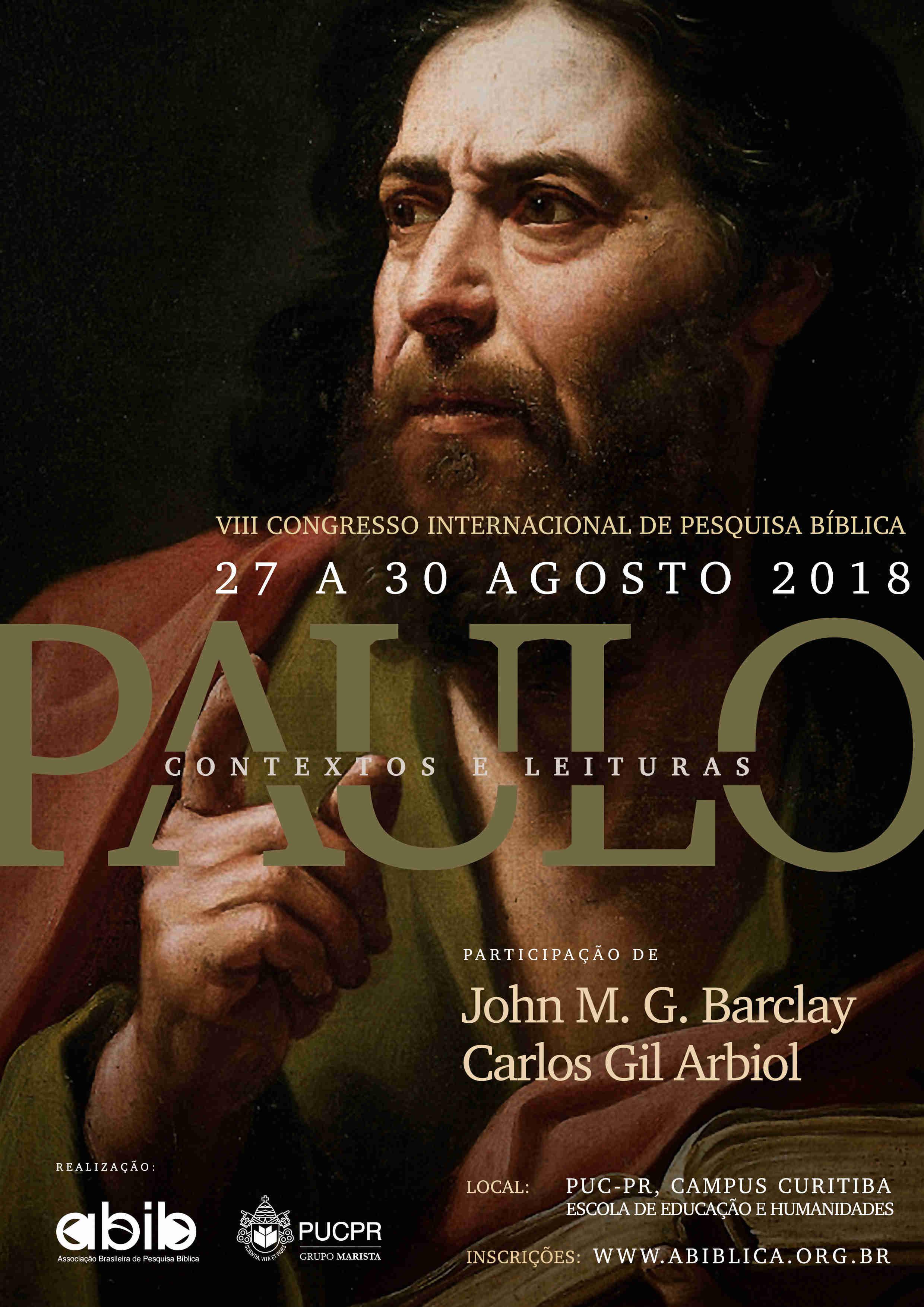 Paulo: contextos e leituras - VIII Congresso da ABIB em 2018