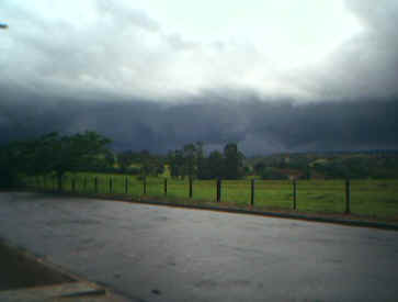Olhando para Ribeirão, por volta das 18h30, no segundo dia de 2007