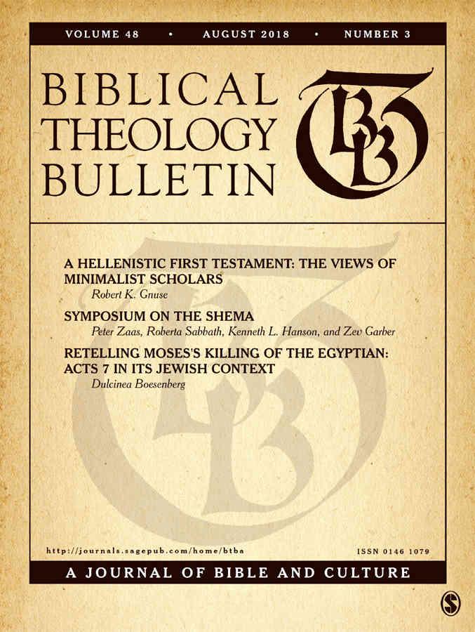 Biblical Theology Bulletin, volume 48, n. 3, 2018