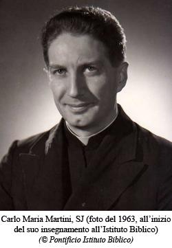 Carlo Maria Martini em 1963 quando começou a lecionar no Bíblico