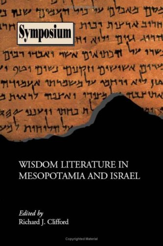 CLIFFORD, R. J. (ed.) Wisdom Literature in Mesopotamia and Israel. Atlanta: Society of Biblical Literature, 2007, 132 p.