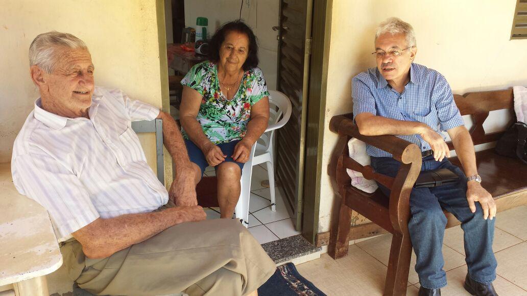 Visitando Dindinho e madrinha Maria em 19.01.2018