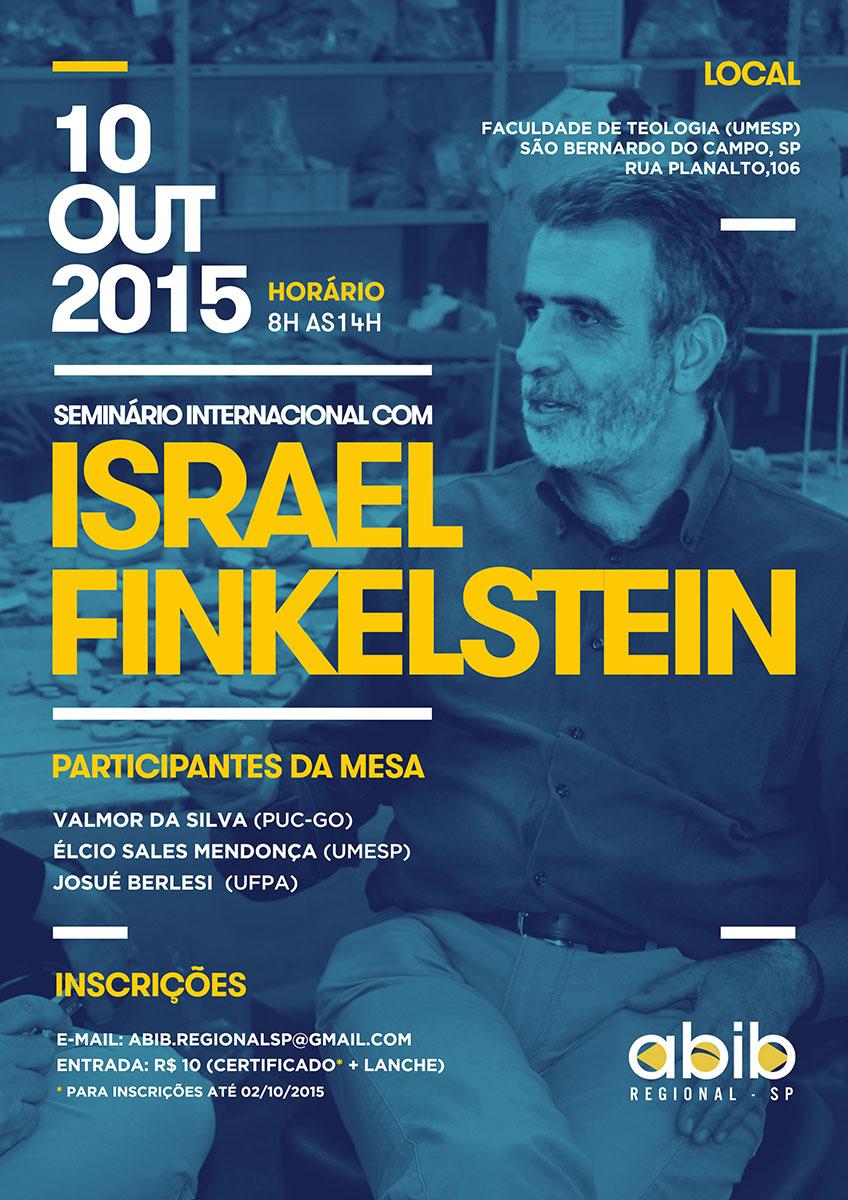 Seminário com Finkelstein em outubro de 2015