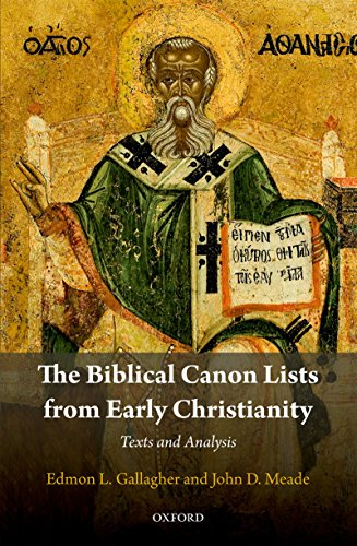 GALLAGHER, E. L. ; MEADE, J. D. The Biblical Canon Lists from Early Christianity: Texts and Analysis. Oxford: Oxford University Press, 2017, 368 p.