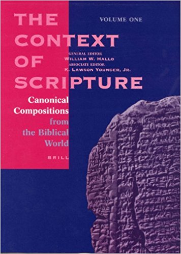 HALLO, W. W. ; YOUNGER, K. L. (eds.) The Context of Scripture: Canonical Compositions, Monumental Inscriptions and Archival Documents from the Biblical World. 3 vols. Leiden: Brill, 2003, 1553 p.