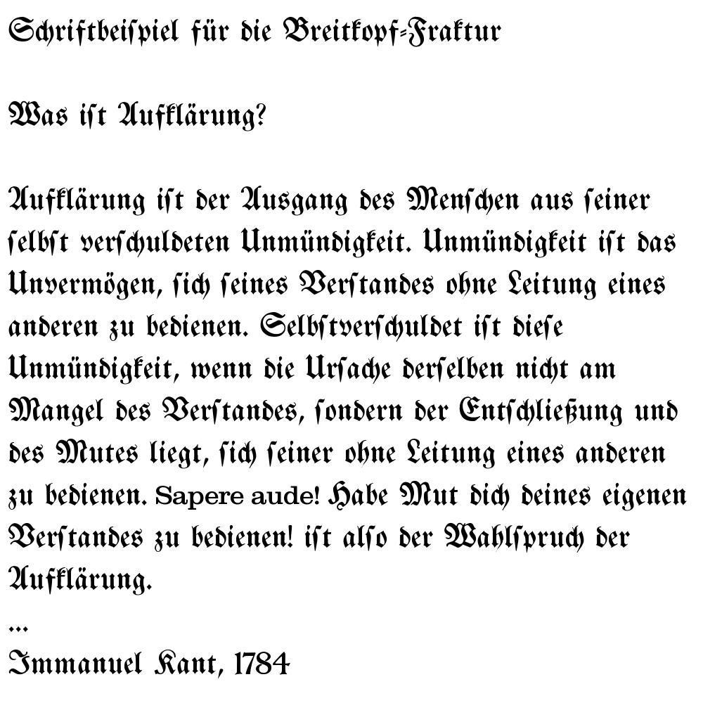 Immanuel Kant, Beantwortung der Frage: Was ist Aufklärung?