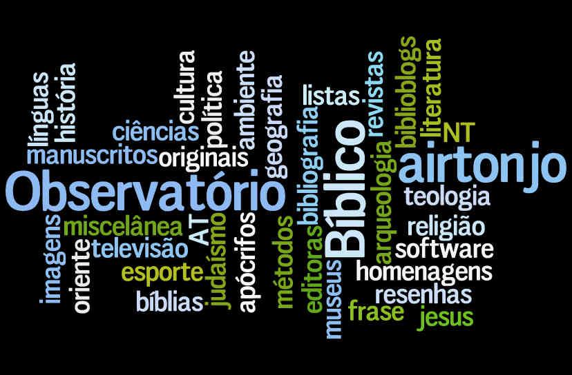 Nuvem de tags - Observatório Bíblico