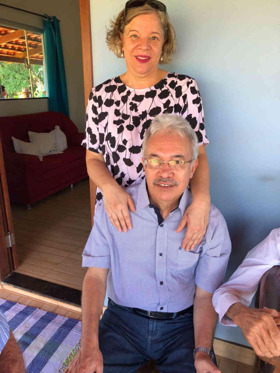 Rita e eu na festa de aniversário do papai