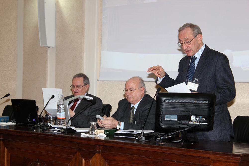 José Luis Sicre, José Maria Abrego de Lacy (Reitor do Bíblico) e Pietro Bovati: 23.01.2012