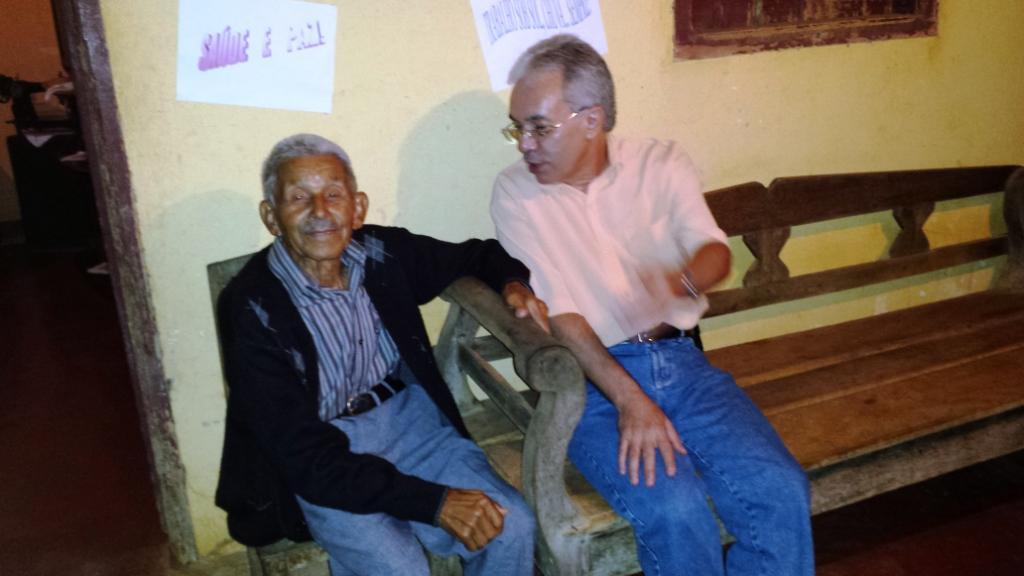Papai e eu em 17.01.2014 na varanda de sua casa