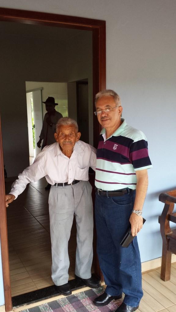 Com papai, em sua casa, em 13.01.2017